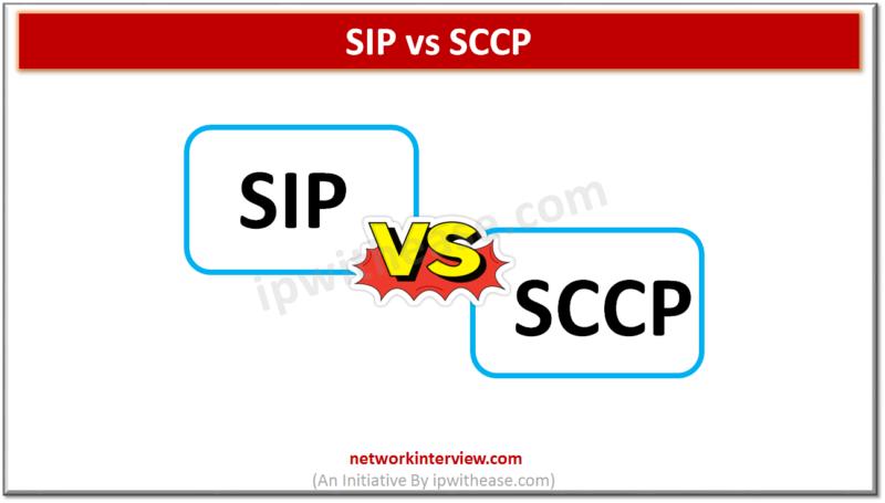 SIP VS SCCP