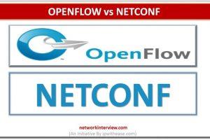 OPENFLOW VS NETCONF