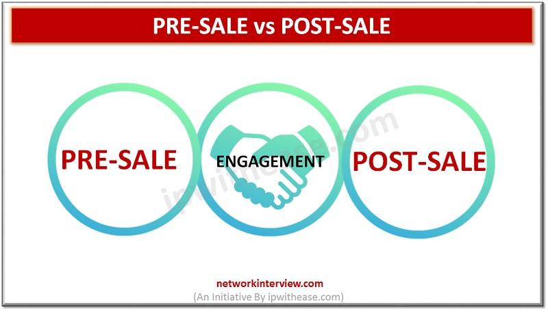 Pre-sale vs Post-sale
