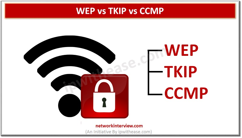 WEP vs TKIP vs CCMP - Encryption Technique
