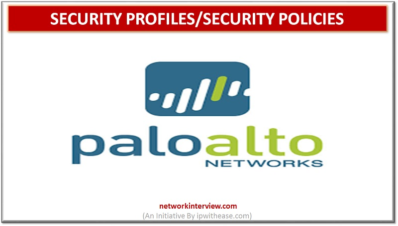 palo alto security profiles and security policies