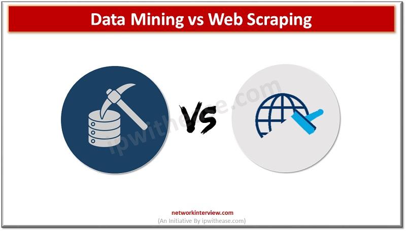 data mining vs web scraping