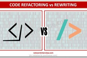 Code refactoring vs rewriting